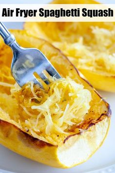 Tips on how to make spaghetti squash in the air fryer. Cooks up fast and makes a great low-carb dish. Love using this squash instead of pasta or stuffing with things like spaghetti sauce, chili, vegetables, cheese and more. #airfryerspahgettisquash #spaghettisquash How To Make Spaghetti, Making Spaghetti Squash, Baked Spaghetti Squash, Air Fryer Recipes Easy, Latest Recipe, Side Dishes Easy, Other Recipes, Kitchen Recipes, Easy Cooking