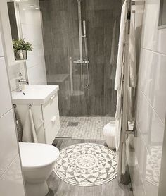 Is your home in need of a bathroom remodel? Give your bathroom design a boost with a little planning and our inspirational Most Popular Small Bathroom Remodel Ideas in 2018 Upstairs Bathrooms, Downstairs Bathroom, Bathroom Renos, Laundry In Bathroom, Simple Bathroom, Bathroom Interior, Dyi Bathroom, Small Basement Bathroom, Small Bathroom Ideas