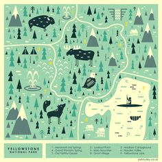 Yellowstone map-  josh hurley