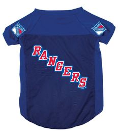 2e8f9eae633 New York Rangers NHL Dog Jersey Nhl News, New York Rangers, Dogs And Puppies