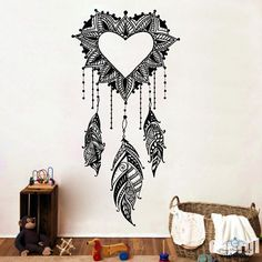 Dream Catcher Wall Decals Amulets Feather Heart Love Vinyl Sticker Boho Bedding Home Decor Bedroom Bohemian Stiskers Art Mural  Dear Buyers,