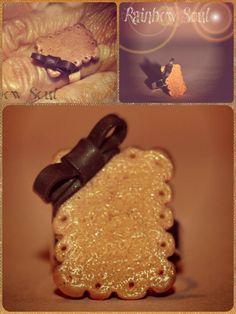 Anello regolabile Biscotto con fiocco