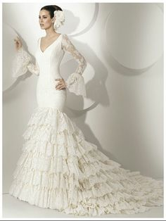 Flamenco Wedding Dress | FLAMENCO & Mexican Weddings | Pinterest ...