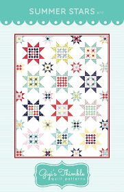 A Little Bit Biased: Summer Stars - A New Quilt Pattern + Giveaway