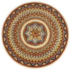 Stained Glass Round Rug