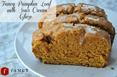 pumpkin loaf with sour cream frosting