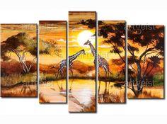 C jirafas en un abrevadero 30300