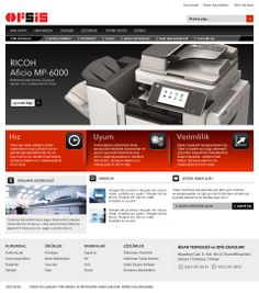 Interface design for Ofsis web site