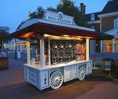 Mobile Food Cart, Outdoor Retail Kiosk for Food, Coffee, Jugo ...