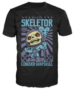 Pop! Tees: Masters of the Universe - Hail Skeletor Poster tee