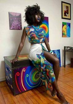 "islandboiphotography: "" Model: Kohcoa Mua: Tenelle Viera Stylist/Designer: Gary Cruchar of Soft Lines © island boi photography 2014 "" BGKI - the website to view fashionable & stylish black girls. African Attire, African Wear, African Women, African Dress, African Inspired Fashion, African Print Fashion, African Prints, Afro, My Black Is Beautiful"