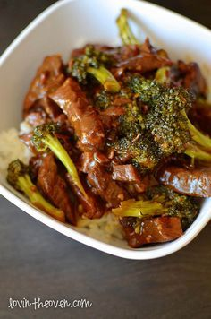 1 pound boneless beef chuck roast, sliced into thin strips 1 cup beef consomme 1/2 cup soy sauce 1/3 cup brown sugar 1 tablespoon sesame oil 3 garlic cloves, minced 2 tablespoons cornstarch 2 tablespoons sauce from the crock pot after being cooked Fresh broccoli florets (as many as desired) Hot cooked rice