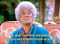 """""""guess who got lucky"""" The Golden Girl's Sophia Best Tv Shows, Best Shows Ever, Favorite Tv Shows, Tv Quotes, Girl Quotes, Movie Quotes, Golden Girls Meme, Betty White, Comedy Tv"""