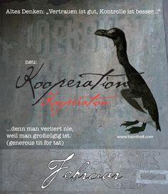 "Calendarium - Komplexität meistern: FEBRUAR Blatt ""Kooperation"" Wallner & Schauer GmbH, Web: trainthe8.com Blog: hpwallner.at"