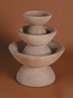 The Color Bowl 3-Tier Garden Fountain has a simple design that will work in almost any yard or patio. You and your guests will love the visual effect and vibrant sound as water cascades from one tier to the next. Constructed of durable cast stone concre