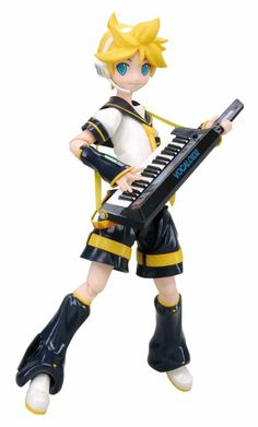 Amazon.com : Vocaloid 2 Len Kagamine Figma Action Figure : Toy Figure Statues : Toys & Games