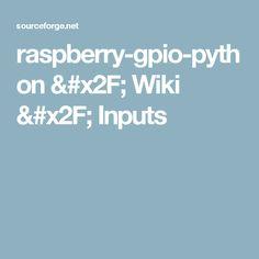 raspberry-gpio-python / Wiki / Inputs