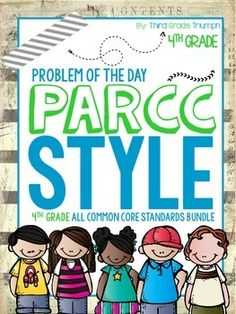 The bundle pack is here! This pack includes PARCC problem types for ALL fourth grade standards! Since most states are reforming their state testing to the PARCC test, there is such a shortage of quality materials that will help students practice and become familiar with the language and types of questions used on the PARCC.