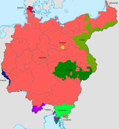 An ethnic map of Greater Germany, 1921.