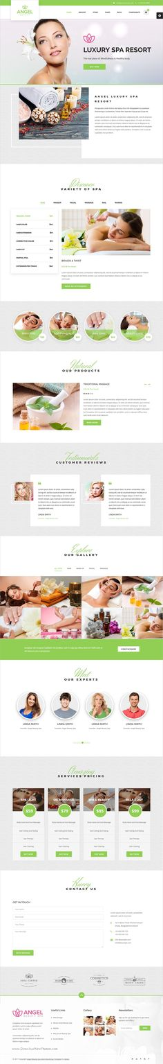Angel is a responsive, clean and modern #HTML Bootstrap template for #beauty, #spa, salons, yoga and wellness center website download now➩ https://themeforest.net/item/angel-beauty-spa-massage-salon-theme/19626945?ref=Datasata
