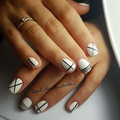 125 Best Black And White Nails Images On Pinterest In 2018