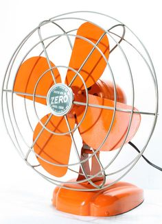 Vintage. Orange. Fan.  Yes.