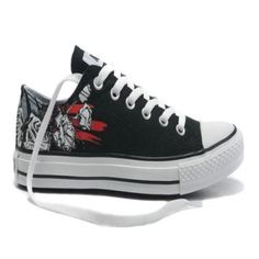 Nero Converse All Star Rose Stampa scarpe basse Top Canvas.€37.87