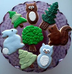 woodland/forest baby shower-cookie favors