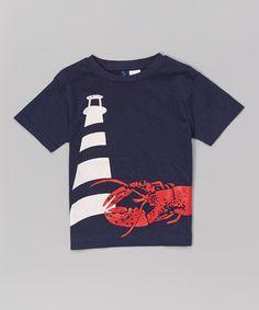Look at this #zulilyfind! Navy Lobster Tee - Infant, Toddler & Boys by Sophie & Sam #zulilyfinds