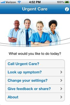 UrgentCare is an app that turns your phone into an urgent care center with medical  info and access to health care professionals.