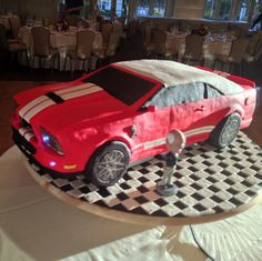 Chef Dana and @dessertsbydana did a Mustang Shelby GT 500 cake.  Winner of Next Great Baker