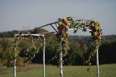 Gorgeous birch and wildflower chuppah Ceremony Backdrop, Outdoor Ceremony, Outdoor Weddings, Diy Wedding Decorations, Ceremony Decorations, Marquee Wedding, Chuppah, Green Wedding Shoes, Wisconsin