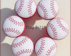 Baseball Knobs • Dresser Drawer Knobs • Drawer Pulls • Baseball Pulls • Sports Drawer Knobs