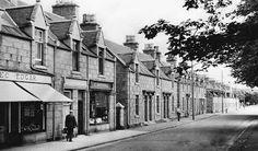 Tour Scotland Photographs: Old Photograph Main Street Cruden Bay Scotland