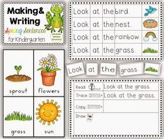 Reading and writing centers for Kindergarten for the year