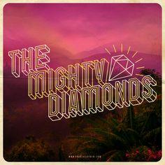 """The Mighty Diamonds"" by Andreas Luchini www.andreasluchini.com #handmade #typography"