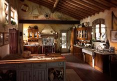 Kitchen , Extraordinary Rustic Italian Kitchens in Small Spaces : Unique Rustic Italian Kitchen Idea With Awesome Look