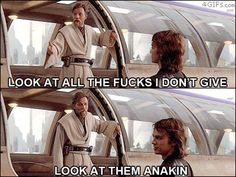Anakin doesn't get that no one cares