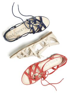 Lace-up ghillie sandals made with buttery-soft leather | Sole Society Gillian