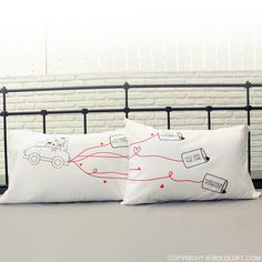 Happily Ever After Couple Pillowcases-BoldLoft offers romantic couple pillowcases which are truly one-of-a kind and make them perfect for couples. Cute and playful design themes make these boy meets girl love pillow cases are unique gifts for couples, husband, wife, brides, anniversary, wedding, Valentines, birthday, engagement or any occasion in your mind.