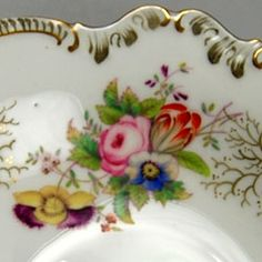 Love this floral antique hand painted Coalport Bone China circa 1890
