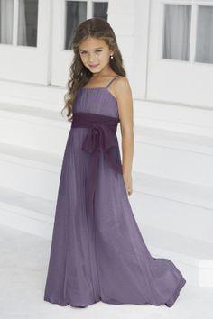 light dress. dark trim. Cute flowergirl dress!
