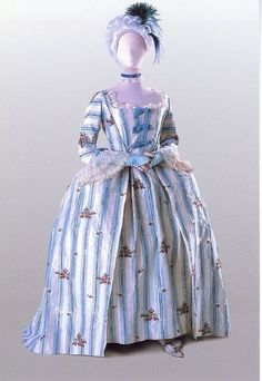 """        Robe a l'anglaise ca. 1765        From the Costume Museum of Canada"""