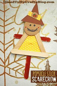 Craft Stick Vogelscheuche Puppe Freund – Kid Craft – Herbst Art… Craft Stick Scarecrow Doll Friend – Kid Craft – Fall Art Project Idea – Ideas Kindergarten – Pin: 170 x 255 Sea Crafts, Halloween Crafts For Kids, Paper Crafts For Kids, Craft Stick Crafts, Preschool Crafts, Diy And Crafts, Craft Kids, Easy Halloween, Autumn Crafts Kids