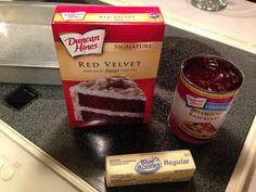 Red Velvet Raspberry Dump Cake!