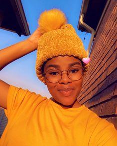 """Titi's Instagram photo: """"💛 #yellow #beanie #yellowbeanie #yellowtshirt #mustard #glasses #glassesgirl #nosering #septumpiercing"""" Yellow Beanie, Septum, Mustard, Piercing, Winter Hats, Glasses, Antiques, Instagram, Fashion"""