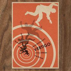 Cartel de la película vértigo 16 x 12 por MonsterGallery en Etsy
