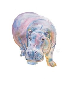 Hippo Animal Paintings Size Xinches Watercolor Etsy - Baby Elephant Nursery Art Animal Painting Nursery Art Print Childrens Art Kids Art If You Are Unhappy With Your Purchase Please Contact Me And I Will Try And Fix The Problem You Have Nursery Paintings, Animal Paintings, Nursery Art, Animal Drawings, Elephant Nursery, Baby Elephant, Watercolor Animals, Watercolor Paintings, Original Paintings