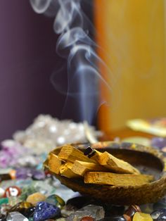 Cleansing Crystals with Palo Santo