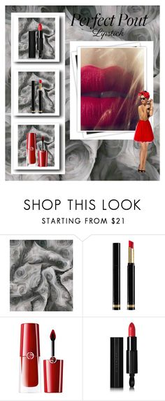 """""""Pucker Up: Spring Lips"""" by susans-sg ❤ liked on Polyvore featuring beauty, David Tutera, GALA, Gucci, Giorgio Armani, Givenchy, P.A.R.O.S.H. and springlips"""